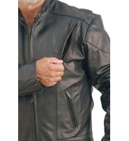 Vented Eagle Vented Leather Motorcycle Jacket #M305VZ