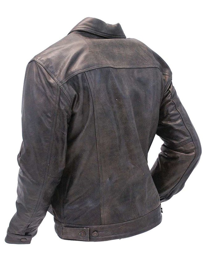 Jamin Leather Mens Leather Jacket Vintage Jean Jacket Style #M321GY