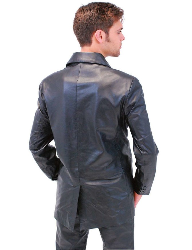 Jamin Leather Men's Tall Lambskin Leather Blazer #M3BBGKT