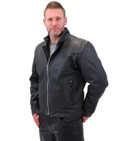 Cafe Racer Leather Motorcycle Jacket - Special #M571SP