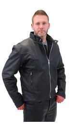 Cafe Racer Leather Motorcycle Jacket - Special #M571SP (S-4X)