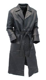 Heavy Leather Trench Coat #M5750K