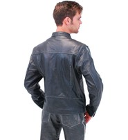 Vintage Gray Vented Cafe Racer Jacket w/CCW Pockets for Men #M587ZGY