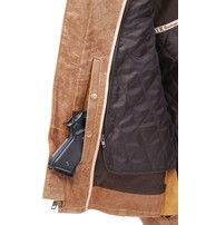 Light Brown Vented Scooter Jacket w/Dual CCW Pockets #M6045ZGN