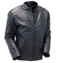 Premium Lambskin Leather Motorcycle Scooter Jacket w/Dual CCW Pockets #M6624GVZK