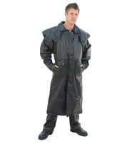 Heavy Leather Duster Trench Coat #M800Z