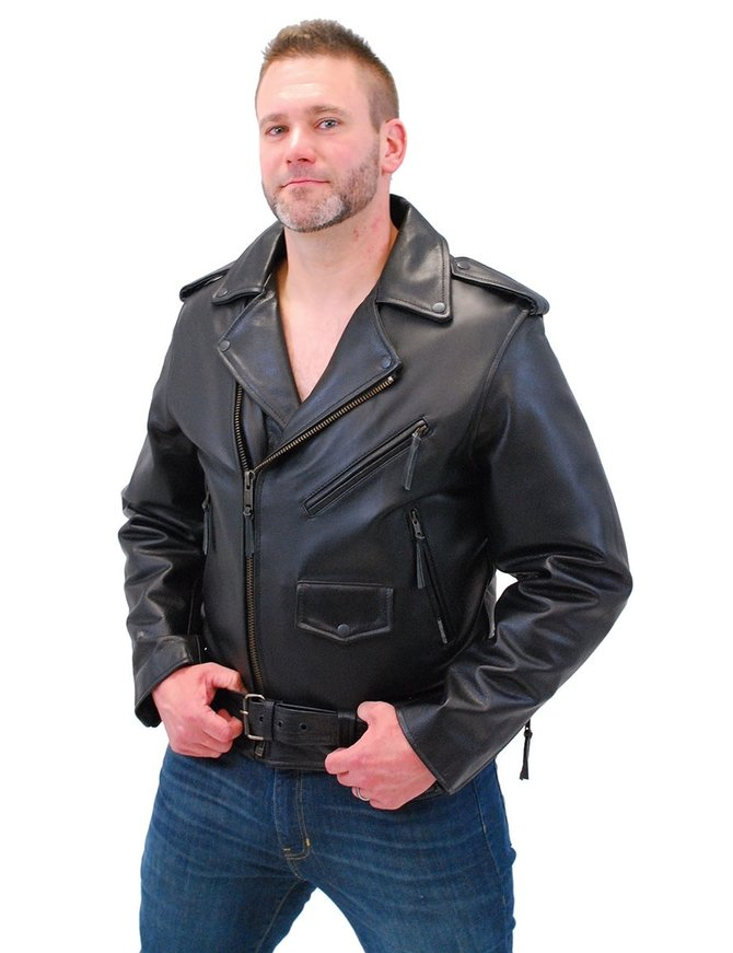 Jamin Leather Jamin' Antique Classic Leather Motorcycle Jacket #MA110Z