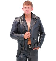 Jamin Leather Tall Jamin' Antique Classic Leather Motorcycle Jacket #MA110ZT