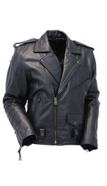 Jamin Leather Premium Beltless Side Lace Leather Motorcycle Jacket w/Dual CCW Pockets #MA15ZL (M-3X)