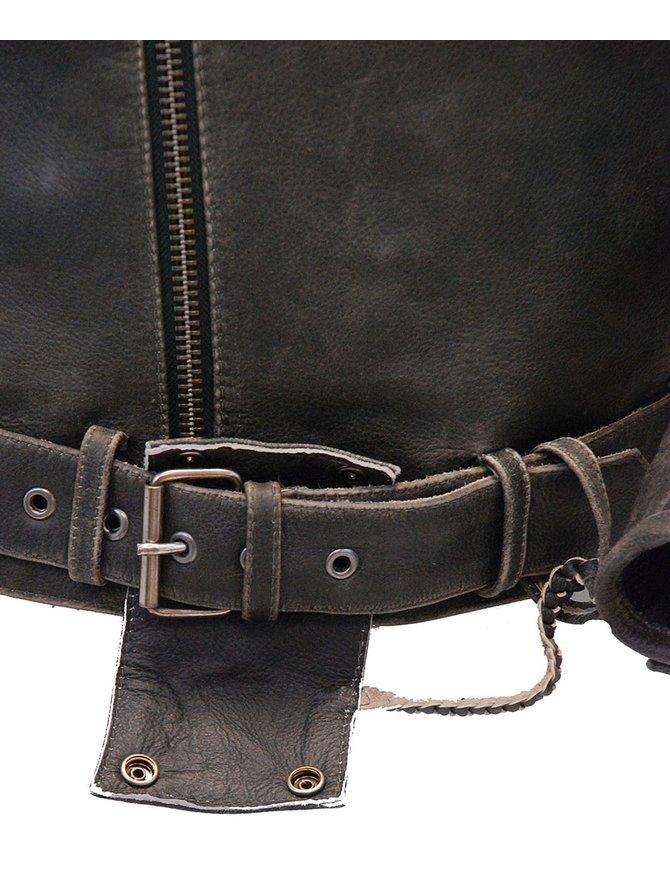 Vintage Brown Leather Motorcycle Jacket w/Vents & Belt #MA2101GVZN
