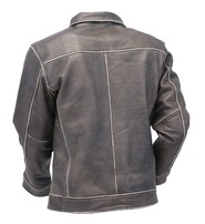 Jamin Leather Vintage Brown Leather Classic Casual Jacket #MA244DN