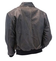 Jamin Leather Vintage Brown Leather A2 Bomber Jacket #MA2DN