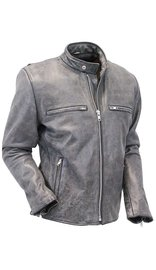 Jamin Leather Hand Painted Vintage Gray Rebel Rider Jacket w/CCW Pocket #MA801ZGGY (M-3X)