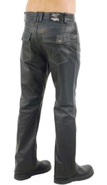 Jamin Leather V-Stitched Snap Pocket Men's Leather Pants #MP11015K