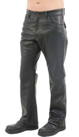 Jamin Leather V-Stitched Snap Pocket Men's Leather Pants #MP11015K (36-40)