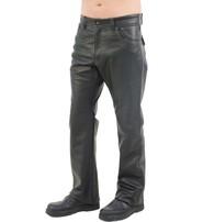 Jamin Leather V-Stitched Snap Pocket Men's Leather Pants #MP11015K