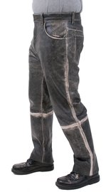 Men's Vintage Antique Leather Pants #MP325VK (30-42)