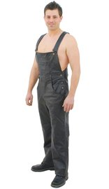 Jamin Leather Biker Leather Bib Overalls #MP44K