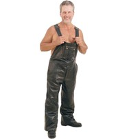 Premium Leather Bib Overalls w/Snap Pockets #MP5812ZK