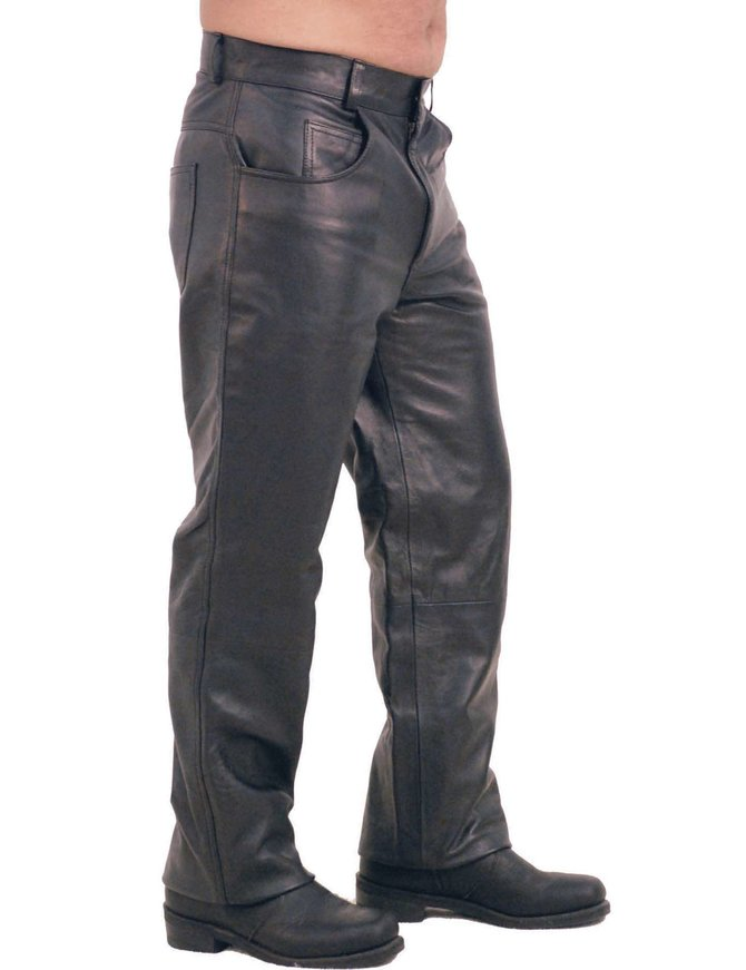 Jamin Leather 5 Pocket Lambskin Leather Pants for Men #MP591L