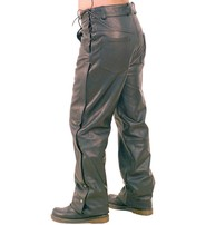Jamin Leather Side Lace Touring Motorcycle Overpants #MP8072ZL