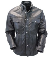 Snap Up Leather Shirt #MS1559K