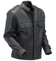 Daniel Smart Zip and Snap CCW Leather Shirt with Quick Access Pocket #MS7880ZGK