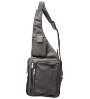 Heavy Duty Large Size Leather Sling Bag w/Cell Pocket #P0011XK