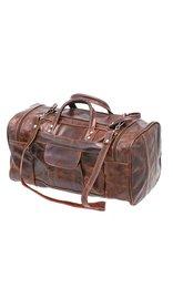 Medium Size Vintage Brown Leather Travel Duffel Bag #P302MDN