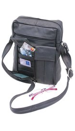 10 x 8 Side Bag Purse w/Organizer & Eyeglass Pouch #P537K