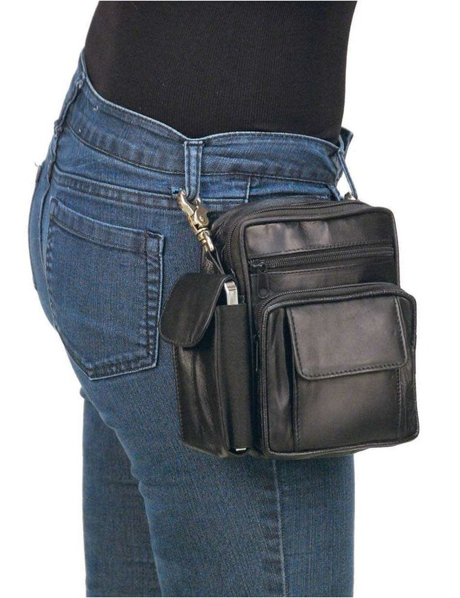7 x 6 Clip-On Hip Klip Bag w/Strap & Side Phone Pocket #PKK1575K