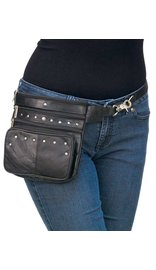 8 x 7 Studded Clip-On Hip Klip Bag w/Removable Strap #PKK15RK