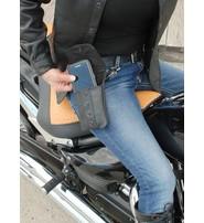 Jamin Leather Black Leather Cell Phone Case - Adjustable Clip-On #PKK18090K