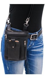6.5 x 9 Double Clip Pouch Hip Klip Bag w/Large Cell Phone Pocket #PKK5732GK