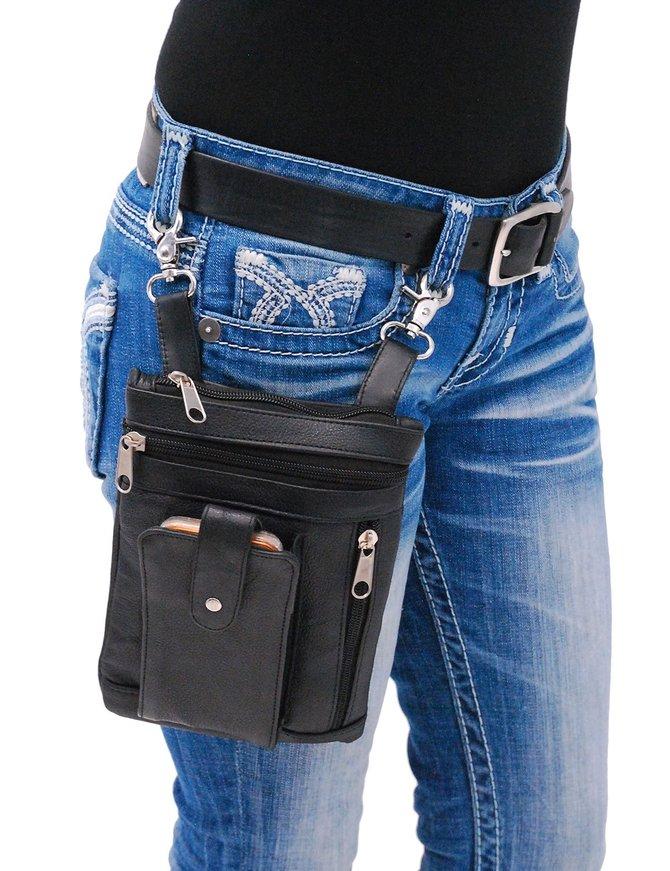 6.5 x 9 Double Clip Pouch Hip Klip Bag w/Large Cell Phone Pocket #PKK5732GK