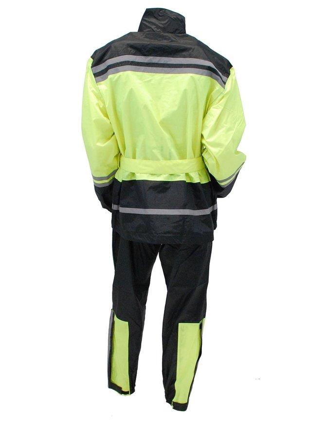 Unisex Two Piece Green & Black Rainsuit #RS1940GNK