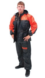 Unisex Two Piece Orange & Black Rainsuit #RS302O