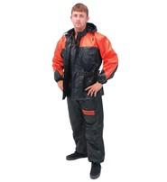 Unisex Two Piece Orange & Black Rainsuit #RS302O