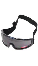 Foam Filled One Piece Lens Goggles w/Thick Black Frame #SG2413FFSD