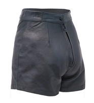 Black Leather High-Waisted Booty Shorts #SH1103K