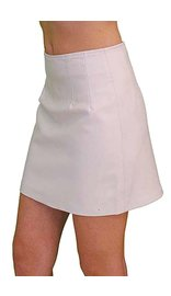 Jamin Leather White Leather Mini Skirt #SK15W