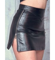 Jamin Leather Lambskin Leather Side Zipper Skirt #SK715Z