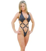Jamin Leather Snap Away Full Harness Teddy #U4007H