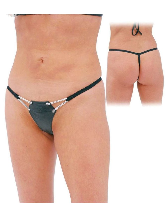 Jamin Leather Chain & Leather G String #UG12061CK