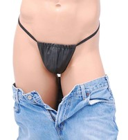 Jamin Leather USA Made Skimpy Men's Leather G-String #UGM110