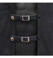 Jamin Leather Pair of Buckle Vest Extenders #VC17070BU