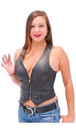 Jamin Leather Lambskin Leather Vest w/Pockets & Sport Back #VL677Z (6-20)
