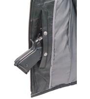 Unik Women's Vintage Gray Quilt Shoulder Leather CCW Pocket Vest #VLA6865QGY