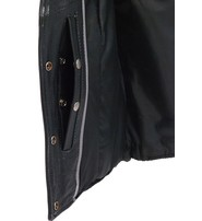 Unik Vintage Black CCW Premium Leather Vest for Women #VLA6880K