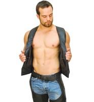 CCW Pocket Classic Leather Biker Vest - Special #VM0707GSP